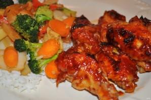 Маринованные куриные крылышки с овощами - фото шаг 6