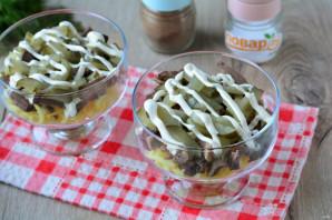 Слоеный салат с сердцем - фото шаг 9