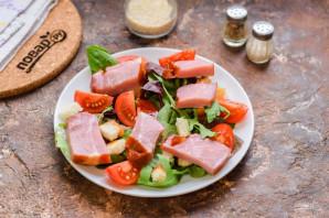Салат с балыком - фото шаг 4