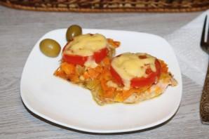 Горбуша с помидорами и сыром в духовке - фото шаг 13