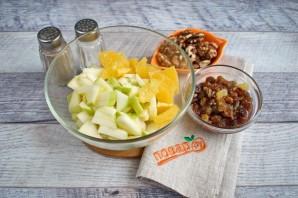 Салат из яблок и апельсина - фото шаг 2