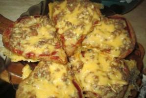 Бутерброды с фаршем в духовке - фото шаг 7