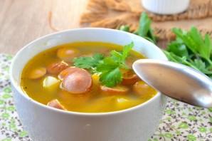 Быстрый суп с сосисками - фото шаг 8
