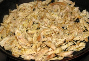 Омлет с курицей и помидорами - фото шаг 2