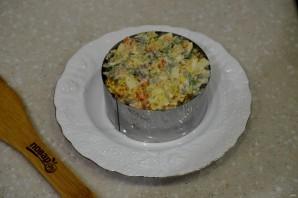 Салат с печенью и мандаринами - фото шаг 6