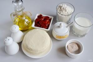 Спиральки из теста с сырно-томатной начинкой - фото шаг 1