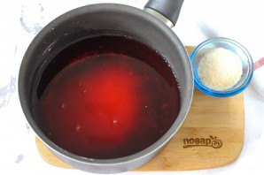 Желе из вишневого сока - фото шаг 2