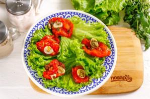 Салат с вялеными помидорами и рукколой - фото шаг 3