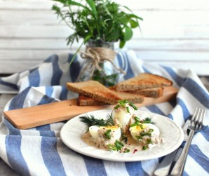 Яйца под соусом из тунца - фото шаг 6