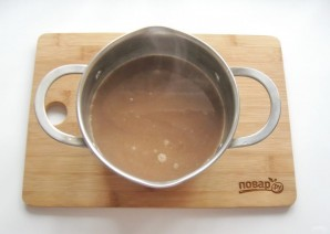 Шоколадный пудинг из манки - фото шаг 6