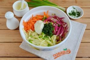 Салат с зеленой редькой и морковью - фото шаг 5