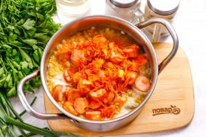 Суп с чечевицей и сосисками - фото шаг 6