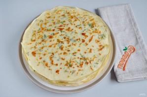 Сырные блины с укропом - фото шаг 8