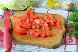 Салат с капустой, ветчиной и сухариками - фото шаг 7