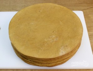 Медовый торт со сметанным кремом - фото шаг 7
