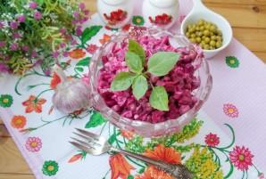 Салат из свеклы с зеленым горошком - фото шаг 8