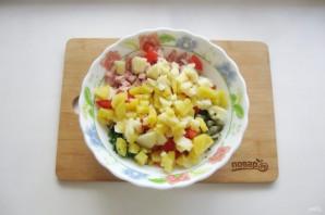 Салат с картошкой и ветчиной - фото шаг 7