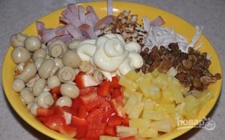 Салат с ветчиной и болгарским перцем - фото шаг 3