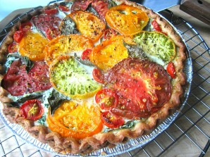 Пирог с рикоттой и помидорами - фото шаг 3