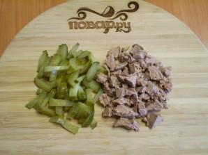 Салат с печенью куриной слоеный - фото шаг 4