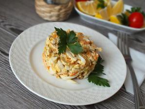 Салат с кальмарами и блинами - фото шаг 11