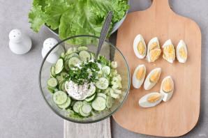 Салат со сметаной - фото шаг 4