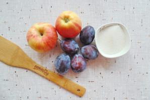 Варенье из яблок и слив в мультиварке - фото шаг 1