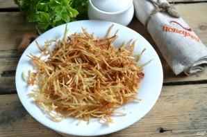 Салат с картофельной стружкой - фото шаг 3