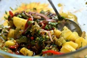 Пикантный картофельный салат. - фото шаг 6