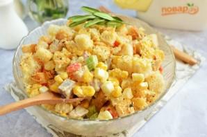 Рыбный салат с кукурузой - фото шаг 9
