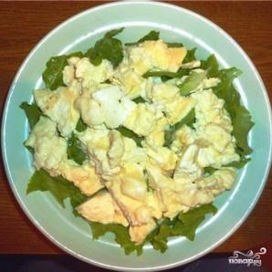 Салат с омлетом - фото шаг 6