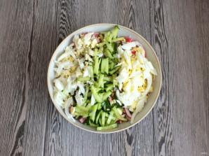 Салат из крабовых палочек и ветчины - фото шаг 3