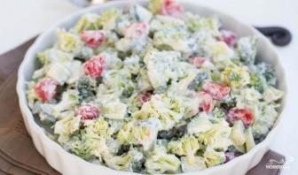 Салат из брокколи и овощей - фото шаг 3