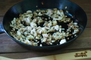 Начиненные грибы в духовке - фото шаг 4