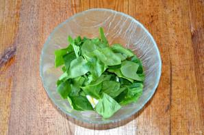 Салат со шпинатом и огурцом - фото шаг 4