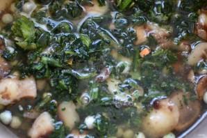 Рис с грибами, овощами и шпинатом - фото шаг 4