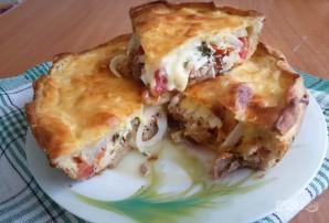 Слоеный пирог с мясом и сыром - фото шаг 7