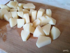 Яичные кнедли с картофелем и гренками - фото шаг 5