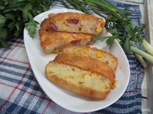 Закусочный кекс с кукурузой, колбасой и пармезаном - фото шаг 7