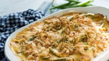 Запеканка с сыром, фасолью и ветчиной - фото шаг 4