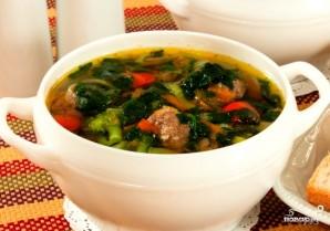 Суп с фрикадельками и шпинатом - фото шаг 5