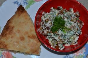 Салат с баклажанами - фото шаг 6