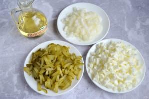 Салат из пасты с яйцами - фото шаг 3