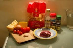 Гнёзда с фаршем на сковороде - фото шаг 1