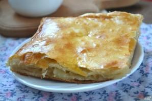 Пирог из слоеного теста с яблоками - фото шаг 8
