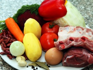 Борщ рецепт классический с мясом - фото шаг 1
