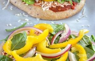 Овощная пицца с моцареллой - фото шаг 4