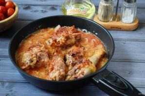 Жареная курица с луком-шалот и помидорами - фото шаг 5