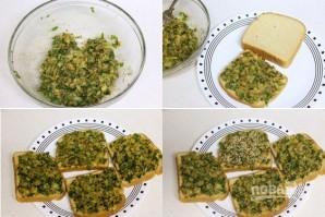 Тосты со шпинатом - фото шаг 2