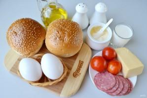 Булочки, фаршированные омлетом, на завтрак - фото шаг 1